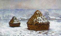 Claude MONET (1840 - 1926)Meules, effet de neige Huile sur toile, 60 x 100 cm, 1891
