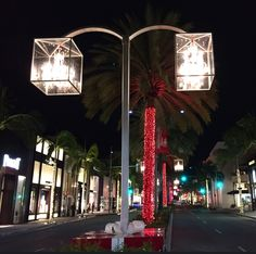 In true Beverly Hills style, Crystal Baccarat Chandeliers grace Rodeo Drive during the Holiday season.