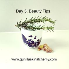 Highly anti-bacterial in nature, rosemary is perfect to use during the cold season. I love drinking it as a tea with ginger as it clears the sinuses and depuffs your face. For problematic skin types, you can use the leftover tea as a face compress as it will help clear up blemishes and decongest the skin. Rosemary also has a grounding effect on the body and reduces anxiety; so take a deep breath and inhale the tea before drinking it. You will feel instantly calmed!