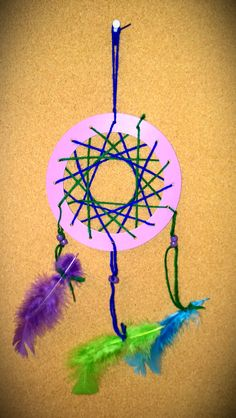 Native American Dream Catcher - Come to the Currents Gallery to learn about the American Indians who lived in the St. Louis area. Create your own by cutting a piece of cardboard or poster board into a circle (make sure to cut out the middle) and punch 16 holes around the circle. Start at the top hole with yarn and thread through every third hole until the pattern is complete. Tie it off, cut the excess string, and attach feathers or beads to three holes at the bottom.  -Missouri History…