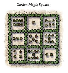 """In Chapter Two of """"Morgan and the Forty Thieves,"""" Rusty shows Morgan one of the many secrets of the Barber Mansion, a magic square made out of rose bushes in the garden. Learn more about magic squares in the Teacher/Parent Guide offered for free on the author website. #stem #math #childrensbooks #teachers #parenting #school #homeschool #art #illustrations #fantasy #adventure Magic Squares, Stem Activities, Art Illustrations, Math Games, Mansion, Barber, Homeschool, Parenting, Author"""