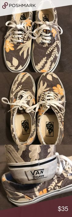 🌼 Vans 🌼😎 These are a re-posh, however, never worn outside. I'm a Hawaiian print and yellow is my fave, but when I got these they just made my feet look wide and huge!! Too self conscious to wear. These are men's, maybe the reason why??? Vans Shoes Sneakers
