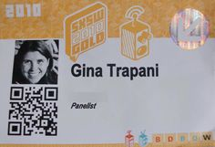 QR codes on business cards, or better still, instead of business cards!
