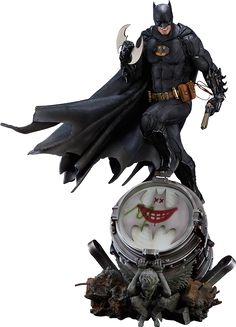 DC Comics Batman Black Edition Statue by Iron Studios | Sideshow Collectibles
