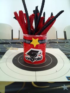 "Centerpiece for ""target"" themed Graduation Party"