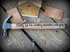 Personalized Father's Day Hammer, Daddy, Personalized Father's Day Gift, Gift for dad , We love building memories with you. Names on back