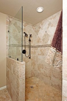Open Shower Designs Without Doors showers without doors design ideas, pictures, remodel, and decor