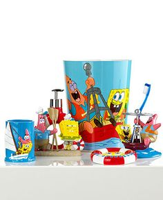 Nickelodeon Bath Accessories Spongebob Set Sail Collection Bathroom Bed Macy S