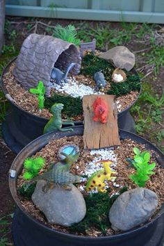 Wheel fairy garden
