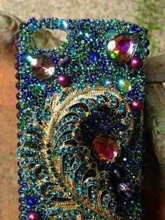 iPhone 5 Pretty Peacock Case by Kianaskases on Etsy