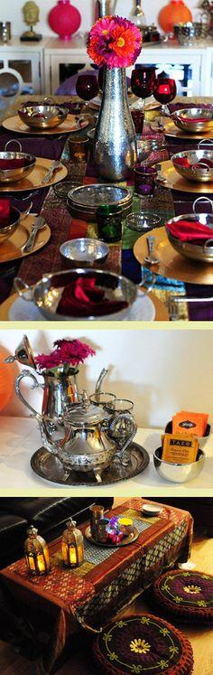 Jantar indiano para oito convidados
