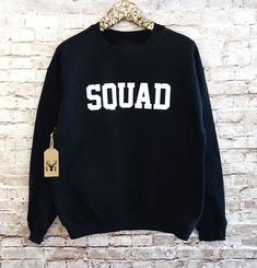 19 Best Friend Gifts That Redefine Squad Goals - Bestfriend Shirts - Ideas of Bestfriend Shirts - 24 Gifts For Your Absolute Bestest Best Friend Best Friend Sweatshirts, Best Friend Shirts, Crew Sweatshirts, Jumper Shirt, Crew Neck Shirt, Squad Goals Shirts, Pulls, Friend Gifts, Bff Gifts