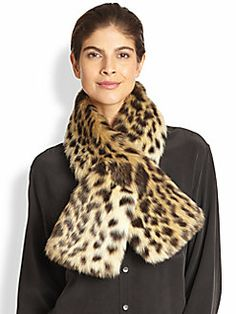 Donna Salyers for Saks Fifth Avenue - Faux Fur Scarf
