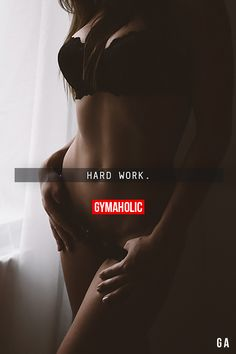 "gymaaholic: "" Hard Work. Nothing less, nothing more. http://www.gymaholic.co """