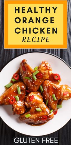 Healthy Recipes For Weight Loss, Healthy Chicken Recipes, Lunch Recipes, Healthy Dinner Recipes, Vegetarian Recipes, Healthy Orange Chicken, Gluten Free Chicken, My Favorite Food, Clean Eating