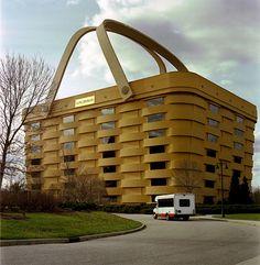 Creative building in Newark, Ohio, USA looks like a giant basket.
