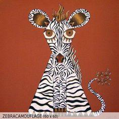 Zebracamouflage (60x60)