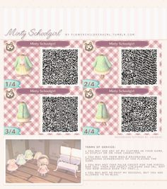 flowerchildrenacnl: This one is inspired by Japanese schoolgirl outfits, but with pastel colors and cute patterns!