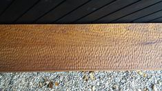 By our hands we make helped with the carving and design of this floating Iroko bench.  Great detail with textures.