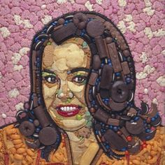 Junk Food To Avoid Food Art - Jason Mecier Hostess Snacks, Hostess Cakes, Amazing Food Art, Mosaic Portrait, Food Sculpture, Sculptures, Food Artists, Trash Art, Junk Art