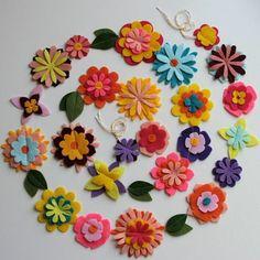 felt flowers yourself doing DIY decoration ideas colored felt fabrics