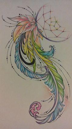 Вскоре меня просто поперло, и пока начальник пил чай глядя в монитор эл. книги, я тем временем заканчивала Feather Art, Feather Tattoos, Bird Feathers, Body Art Tattoos, I Tattoo, Sleeve Tattoos, Unique Tattoos, Beautiful Tattoos, Chakra Art