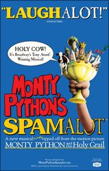 Spamalot the Broadway Musical  - NYC with Kathy M and in Columbia, MO with Alyce, Brayden, Brandy, Halsey, and Grant WD