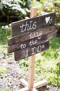Be creative with your words on your wedding signs. Click on the image to see our full gallery of unique wedding sign ideas.