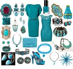 """""""Turquoise my favorite color"""" by carolwatergirl on Polyvore"""