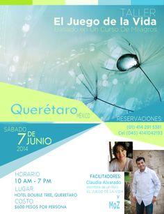 Querétaro: Taller EL JUEGO DE LA VIDA con Claudia Alvarado y MoZ - #PrimeroTuPaz