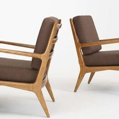 Lounge Chairs, Pair by Bertha Schaefer for Singer and Sons image 4
