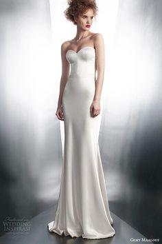 gemy maalouf bridal winter 2015 personalized strapless wedding dress style 4134