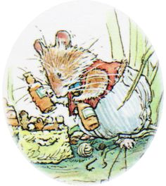 Basil Brightberry, who lives at Elderberry Lodge.  He makes all the syrups, wines and cordials for Brambly Hedge.