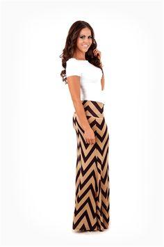 Black And Tan Skirt