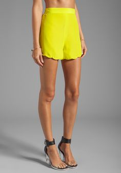 Naven 2013 Neon Collection Scalloped Shorts