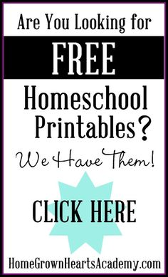 Are you looking for Free #Homeschool Printables?