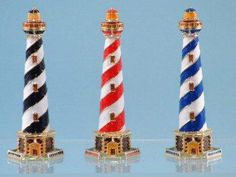 Lighthouse, seaside and coastal decor and maritime themed gifts for home, bathroom, garden or boat. Lighthouse For Sale, Clay Pot Lighthouse, Lighthouse Gifts, Lighthouse Decor, Best Bridal Shower Gift, Summer Deco, T Lights, Nautical Home, Beach Crafts