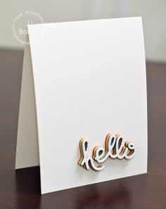 JJ Bolton {Handmade Cards}: Paper Smooches: Rainbow Hello & Giveaway