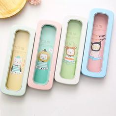 Look what I found on AliExpress Cute Pencil Case, Student Office, Simple Cartoon, Pencil Boxes, Office And School Supplies, Kawaii, Pure Products, Metal, Pencil Cases