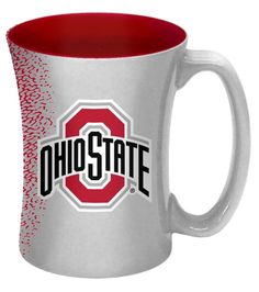 Ohio State Buckeyes 14 oz Mocha Coffee Mug - Detroit Game Gear Mocha Coffee, Coffee Cups, Tea Cups, Discount Shopping Sites, Detroit Game, Mug Decorating, Ohio State Buckeyes, Buckeyes Football, Mugs