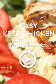 Easy Keto Chicken Shawarma - Low Carb Easy Keto Chicken Shawarma by I Breathe I'm Hungry. This easy Low Carb Chicken Recipes, Keto Chicken, Low Carb Recipes, Healthy Recipes, Diet Recipes, Healthy Food, Crispy Chicken, Healthy Weight, Healthy Meals