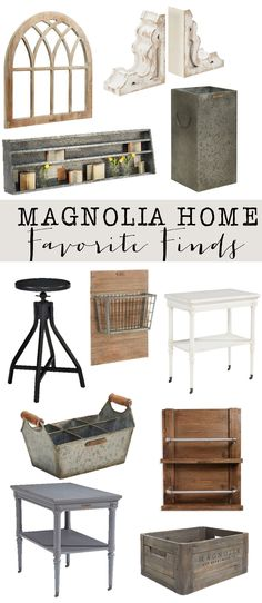 Friday Favorites: Magnolia Home Decor : My favorites from Joanna Gaines new home decor line.  Get a little fixer upper in your own home.  Lots of farmhouse style and industrial style
