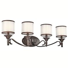 Kichler Lighting Lacey Collection 4-light Mission Bronze Bath/Vanity Light