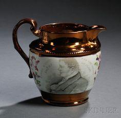 Staffordshire Copper Lustre Daniel O'Connel Jug