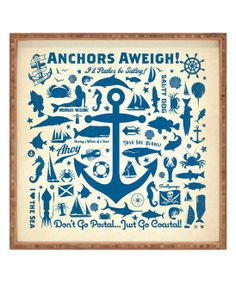 Anderson Design Group Anchors Aweigh Square Tray \
