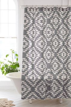 Magical Thinking Costa Geo Shower Curtain - Urban Outfitters