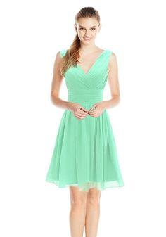 Dressystar Short Bridesmaid Dress Chiffon Party Evening D. 40cedd606744