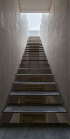 Winners of the 2017 Pritzker Prize. Published extensively in the past on Subtilitas, please visit some of their previously posts, including a few of their earlier houses. Concrete Staircase, Staircase Handrail, Stair Railing, Staircase Design, Stairs Architecture, Beautiful Architecture, Architecture Details, Interior Architecture, Stair Elevator