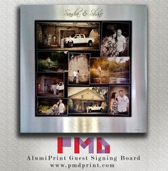 printing on aluminium! A great idea for a guest signing board at a wedding! Printing, The Incredibles, Board, Frame, Wedding, Home Decor, Picture Frame, Valentines Day Weddings, Decoration Home