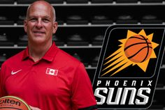 Canadian Senior Men's National Team Coach Jay Triano Names Phoenix Suns Interim Head Coach   TORONTO Ont. - Canada's Senior Men's National Team head coach Jay Triano has been named Phoenix Suns interim head coach the club announced Sunday. The move comes as the Suns relieved former head coach Earl Watson of his duties as head coach. Triano who joined the Suns' staff in the summer of 2016 previously held an associate head coach role with the team. Prior to joining Phoenix Triano was an…